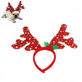 1pc Adorable Antlers Christmas Headband Headdress Head Hoop Headwear Outfit Dress Up Costume Accessory for Pets Dogs