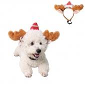 Pet Dog Christmas Headdress Decoration Cats Puppy Xmas Antler Horns Hoops Accessories Antlers Headband