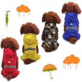 Dog Rain Coat Fashion Pet Clothes  Casual Puppy Casual Waterproof Jacket Cute Lovely Clothing Coat