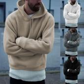 Men Autumn Winter Fashion Casual Drawstring Pullover Hoodie Long Sleeve Sweatshirts