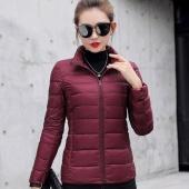 Ultra-light Women Winter Coat Short Slim Thickening Down Cotton-padded Jacket Female Outerwear
