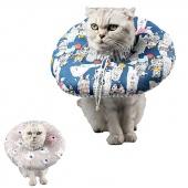Cat Dog Recovery Wound Healing Protective Collar Anti-bite Foam Comfort Cotton Collar Zipper Dropship