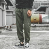 Summer Casual Male Zipper Multipocket Harem Pants Fashion Full Length Joggers Trousers Cargo Pants