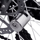 Stainless Steel Bicycle Motorbike Disc Brake Lock Durable Waterproof Mountain Bike Anti-theft Locks