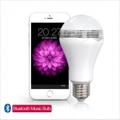 2 in 1 LED Bluetooth Speaker Light Lamp Bulb with Wireless Bluetooth Speaker E27 Audio Music LED Lamp Player for Phone