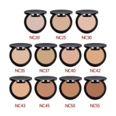 Fashion Face Pressed Powder Foundation Makeup Beauty Cosmetic Tool 11 Colors