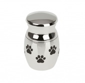 Paw Pattern Stainless Steel Cremation Urn Pet Ashes Holder Memorial Container Jar