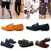 Mens Slip on Suede Gommino Casual Driving Shoes Chic Loafer Shoes