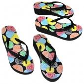 Women's Fashion Fashion Rainbow Spots Sandal Home Flip Flops Slippers Beach Shoes