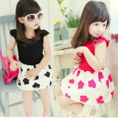 Baby Girls Kids Short Sleeve Bowknot Party Fluffy Formal Tulle Tutu Dress H