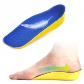 1 Pair 2cm High Increasing Heel Lift Half Insoles in Sock Pad