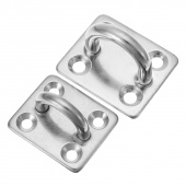5mm 6mm Square Pad Eye Ring Latch Plate Marine Boat Rigging Hardware 2PCS