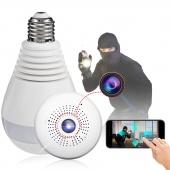360° Panoramic 1080P IR Camera Light Bulb Wifi Fisheye CCTV Security Camera