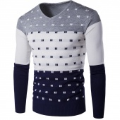 Autumn Winters in Europe And the Colored Man Spell Color Warm Sweater Men Sweater 5 Color