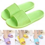 Style One Pair Soft Women Mens Bath Slippers Sandals Bathroom Shoes Flip Flops