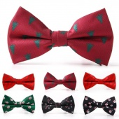 1PC Handsome Festival Christmas Cute Snow Bow Tie Men for Bowtie Neckwear Suit Wedding Party Formal Suit