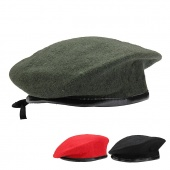 Unisex Men Women Military Soldier Army Hat Wool Beret Beanie Cap