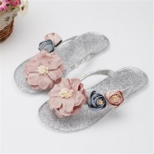 Woman Girl's Flip Flop Sandals Flat with Summer Beach Style Sweet Flower Slippers Women's Footwear