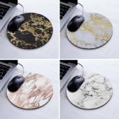 Design Modern Faux Gold Glitter Marble Unique Desktop Pad Mousepads Computer Animation round Mouse Mat round Mice Pad