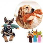 1PC Wild Geese Dinosaur Pet Dog Puppy Chew Toy Sound Toys Squeaky Plush Velvet