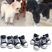 4 pcs Fashion Pet Small Dogs Anti-Slip Sports Canvas Shoes