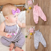 Summer Toddler Baby Girls Clothes Strap Romper Jumpsuit Playsuit Outfits Sunsuit