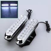 2X 16 LED Daytime Running LED DRL Fog Light Lamp Bulb Day Driving Warning DC 12V