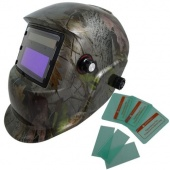 Adjustable Auto Darkening Solar Welding Helmet Forest Camo CE ANSI Certified