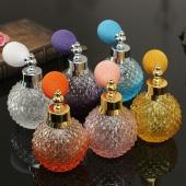 Vintage Crystal Refillable Perfume Glass Bottle White Short Spray Sprayer Atomizer 6 Colors 110ml