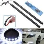 2x 18 LED Soft Strip Daytime Running Light DRL Car Eagle Eye Fog Lamp White 12V