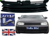 Black Badgeless Debadged Front Sports Grille Grill for VW GOLF 4 MK4 97-04