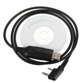 USB Programming Cable CD for Baofeng Radio Dual-Band UV-5R a Plus UV-82 GT-3