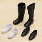 3 Pairs Dolls Cusp Shoes Sneakers Knee High Boots for Barbie Boyfriend Ken Child Doll Dress