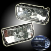 2 Pcs Replacement Front Bumper Fog Lights Clear Glass for BMW E36 3-Series 1992-1998