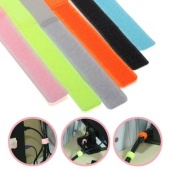 30X Colorful Reusable Velcro Cable Ties Strap Wire Fasteners Organiser for PC TV