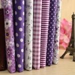 """Lot 7 Assorted Multi-color Pre Cut Charm Cotton Quilt Fabric 19.7"""" Fat Quarter"""