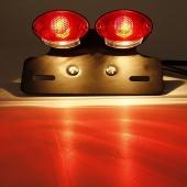 Red Amber Bulb Motorcycle ATV License Plate Brake Running Tail Light Turn Signal