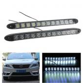 2x Universal LED DRL Super Bright Driving Daytime Running Light Head Lamp 12/24V