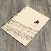 2015 Musical Composition Sheet Manuscript Paper Stave Notation Notebook 40 Pages