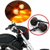 Pair 12V 5W Motorcycle Turn Signal Indicator Lights Lamp for Harley Chopper Bulb