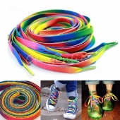 10Pcs Rainbow Candy Colored Shoe Lace Boot Laces Sneakers Shoelaces Strings New