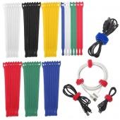 "7Pcs 8""/20cm Magic Velcro Cable Ties Wire Straps Wrap Reusable Hook Loop Cords"