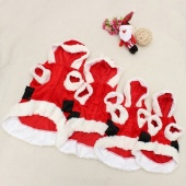 1X Pet Puppy Dog Christmas Cloth Santa Claus Costume Outwear Coat Hoodie Outfit