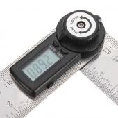 2-in-1 Lcd Digital Angle Finder Meter Ruler Measurer 200MM 360°Degree Protractor