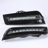 6000K LED Fog Daytime Running Bumper Light Lamps Grill for 09-12 Chevrolet Cruze