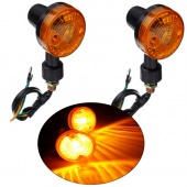 Pair 12V Auto Motorcycle Turn Signal Light Direction Indicator Lamp Turning Lights Amber Bulb