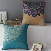 Home Decoartive Vintage Flower Throw Pillow Case Sofa Car Back Cushion Cover