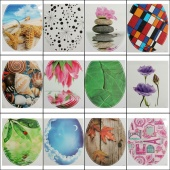 Toilet Seat Stickers Waterproof Bathroom Toilet Stickers WC Decorative Stickers Randomly Colors