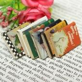 Set of 6pcs 1:12 Model Dollhouse Miniature Colorful Books Home DIY Bonsai Decor