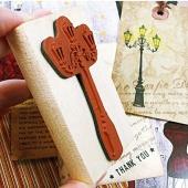 New Korean Creative Retro Originality Lighthouse Diary Wooden Rubber Stamp Seal